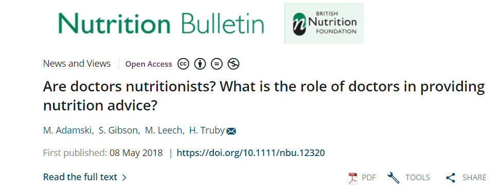 Latest research published by our dietitians - latest research published by our dietitians