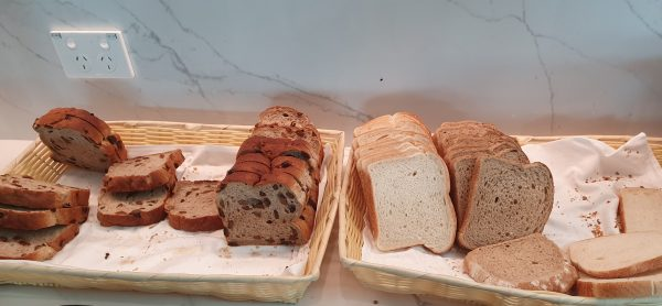 Bread options - Qantas Business Class Lounge Melbourne