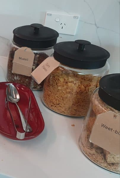 Cereal options for Qantas Business Class Lounge (Melbourne)