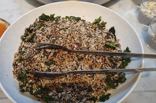 Kale and Quinoa Salad - Qantas Lounge London