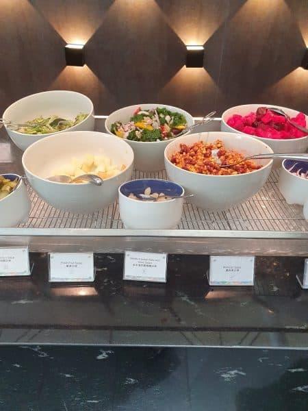Salads in AMEX Centurion Lounge Hong Kong
