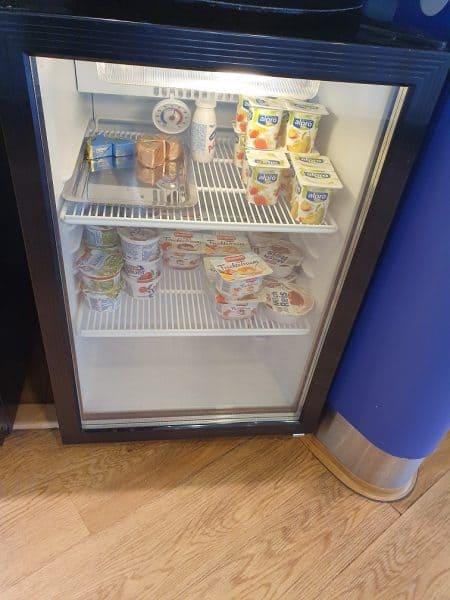Yogurt varieties in the British Airlines Lounge Berlin Tegel