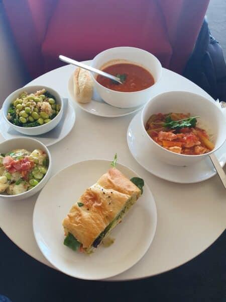 Qantas Club Adelaide food