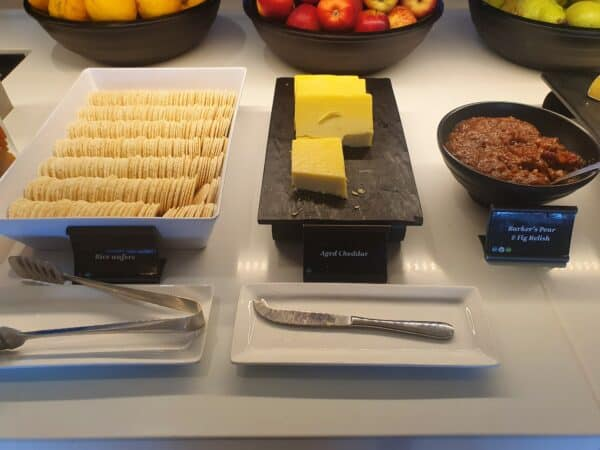 Sanwiches in Air NZ lounge in Auckland