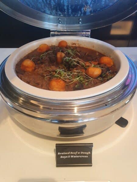 Braised beef - Air NZ lounge Auckland