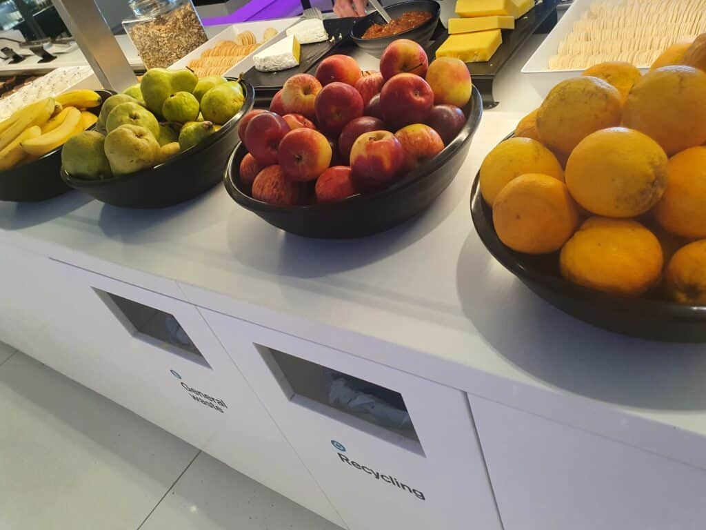 Fresh fruit in Air NZ lounge in Auckland