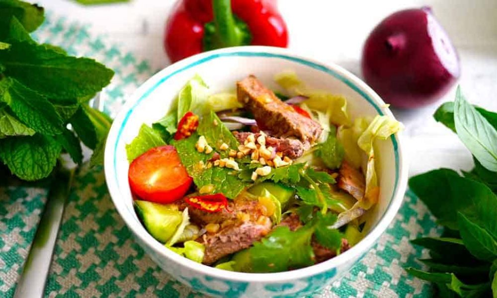 Nutted Out Nutrition - Thai Beef Salad - Salads of the World: Thai Beef Salad